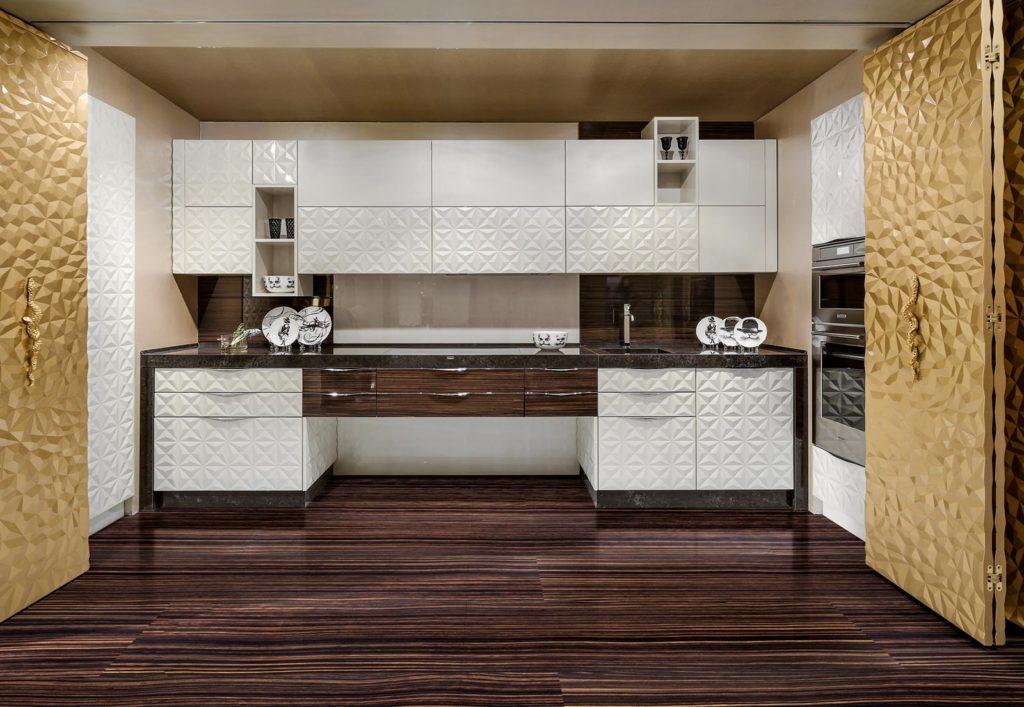3D фасады для кухни контраст