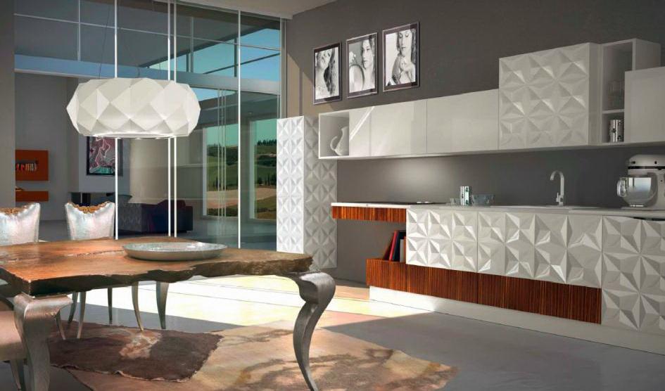 3D фасады для кухни лотраст ромб