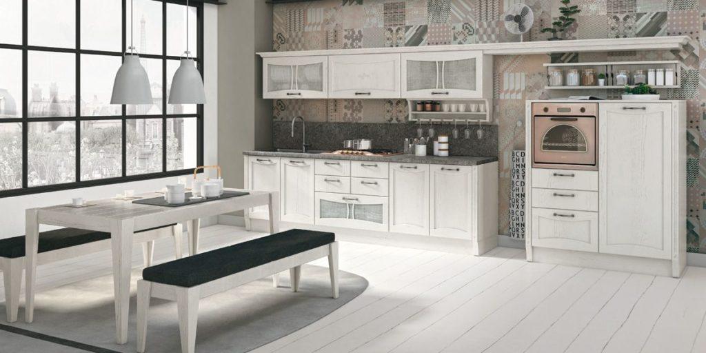 Кухня – вогнутый фасад белая матовая