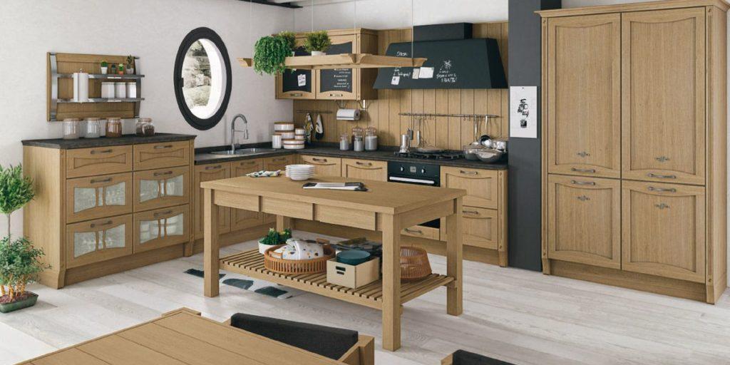 Кухня – вогнутый фасад дуб светлый
