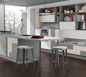 Креативный дизайн кухни – накладной фасад