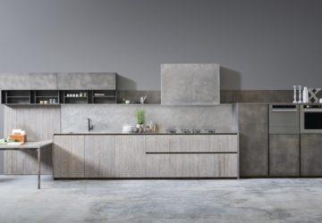 Кухня – бетон и дерево. Дизайн серой кухни