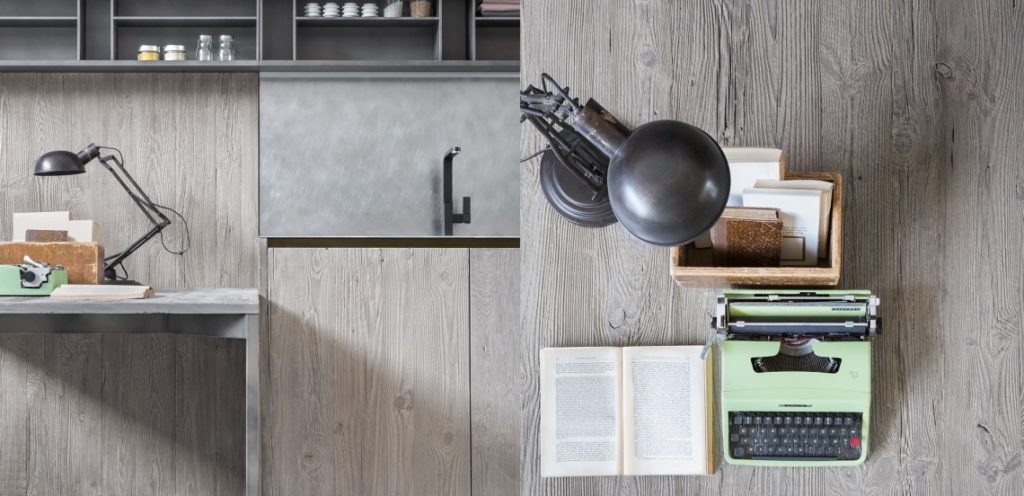 Серый дуб состаренный кухня