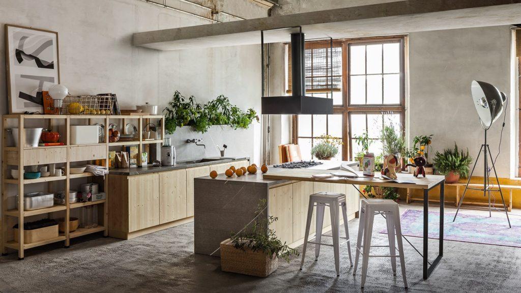 Кухни из массива сосны