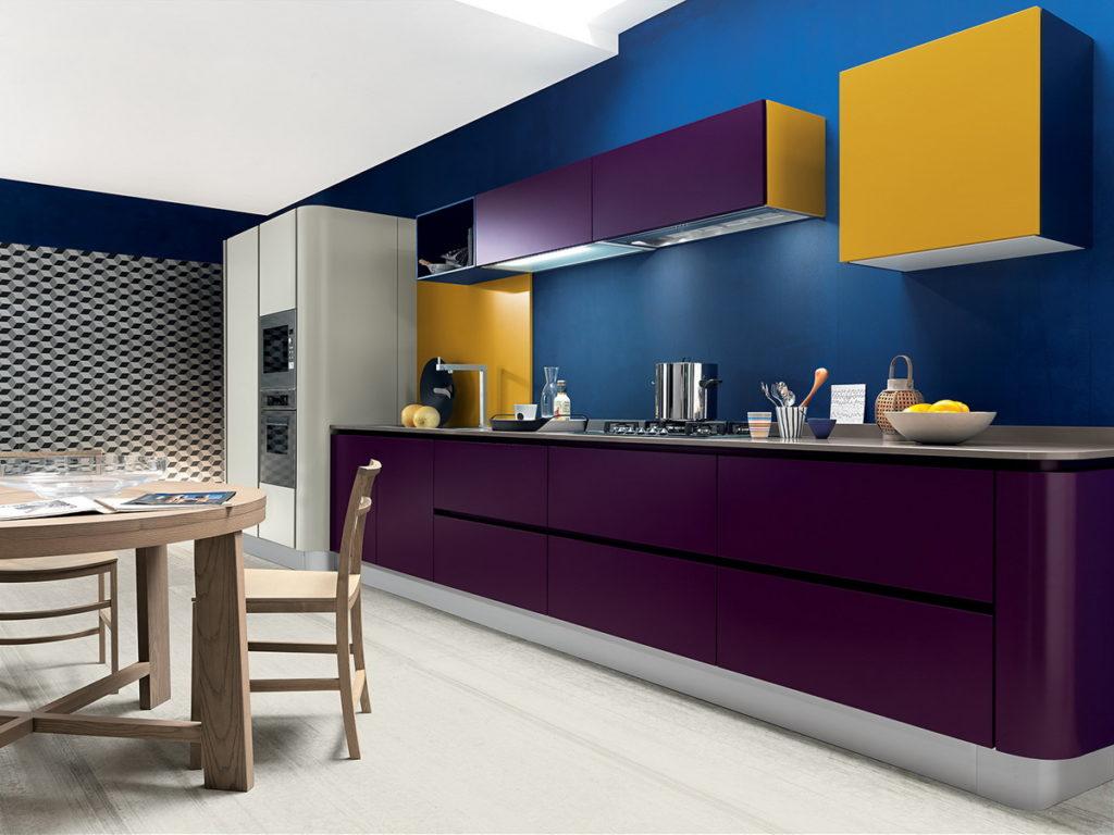 Фиолетовая кухня - цвет года 2018