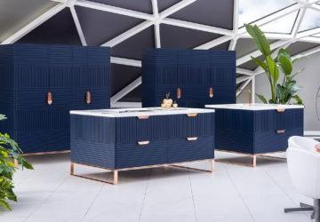 TM Italia – синяя кухня в полоску