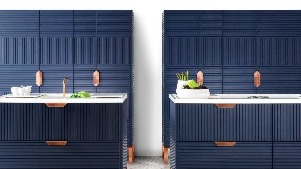 Синяя кухня в полоску, TM Italia