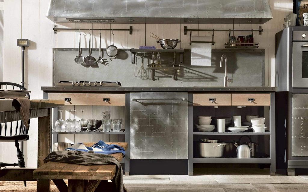 металлические фасады на кухню