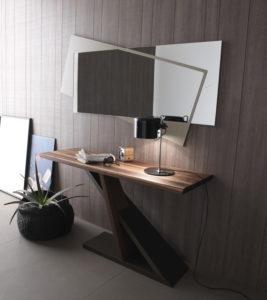 Комбинированное зеркало в гостиной