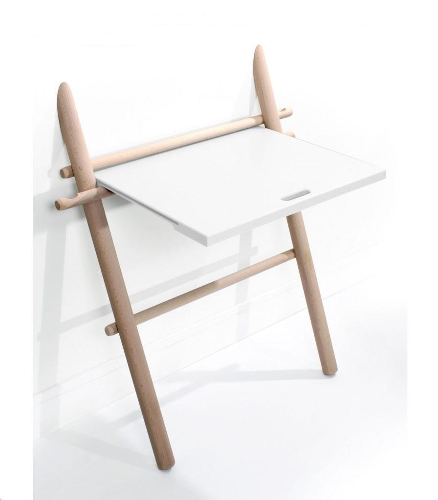 приставной консольный стол буковый