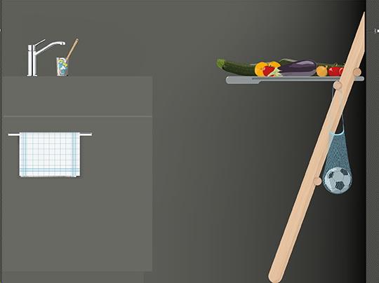 приставной консольный стол к стене