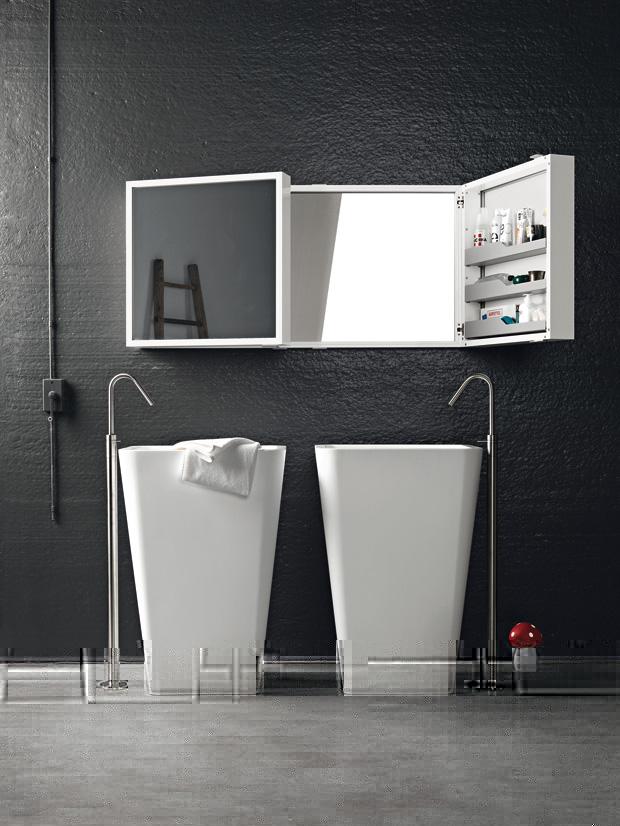 шкафчик зеркальный в ванную