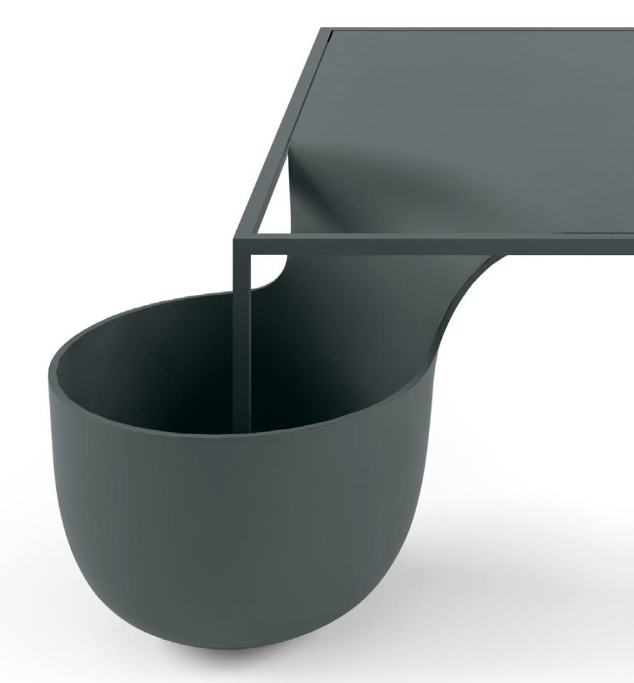 мусорная корзина со столом