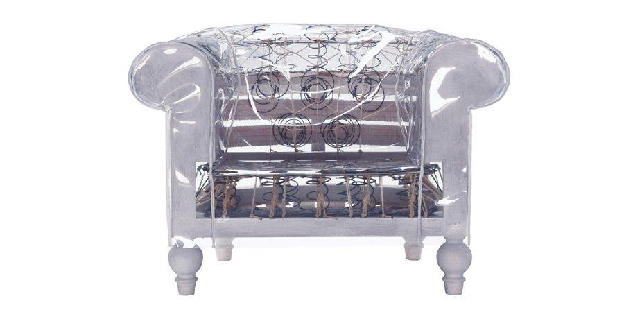 Прозрачный диван