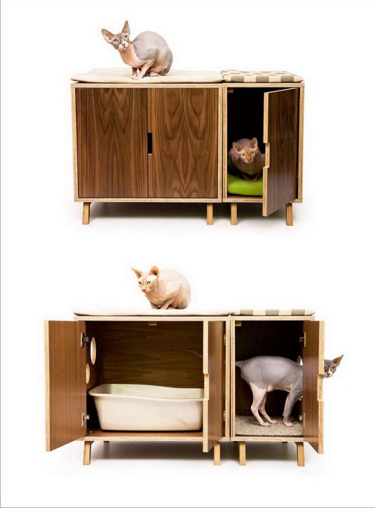 Эргономичный дом для кошки