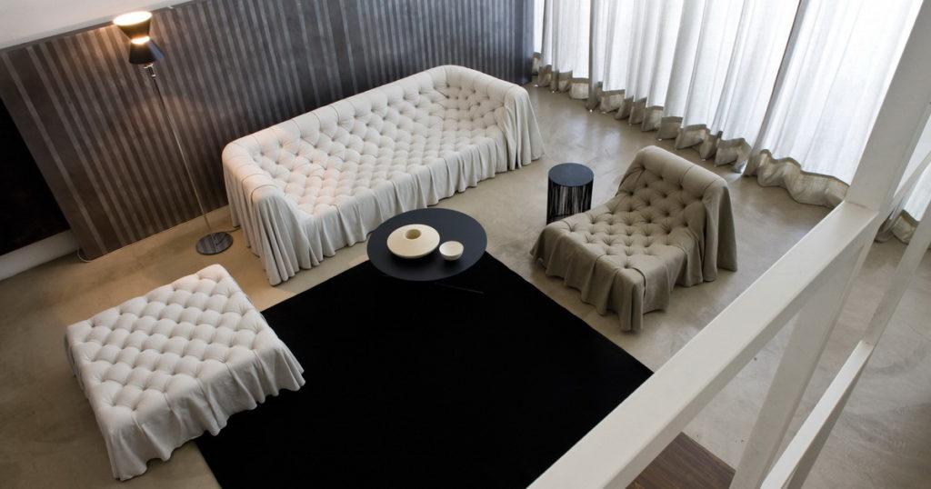Кожаный диван честер