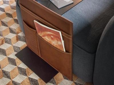 Кожаный приставной столик