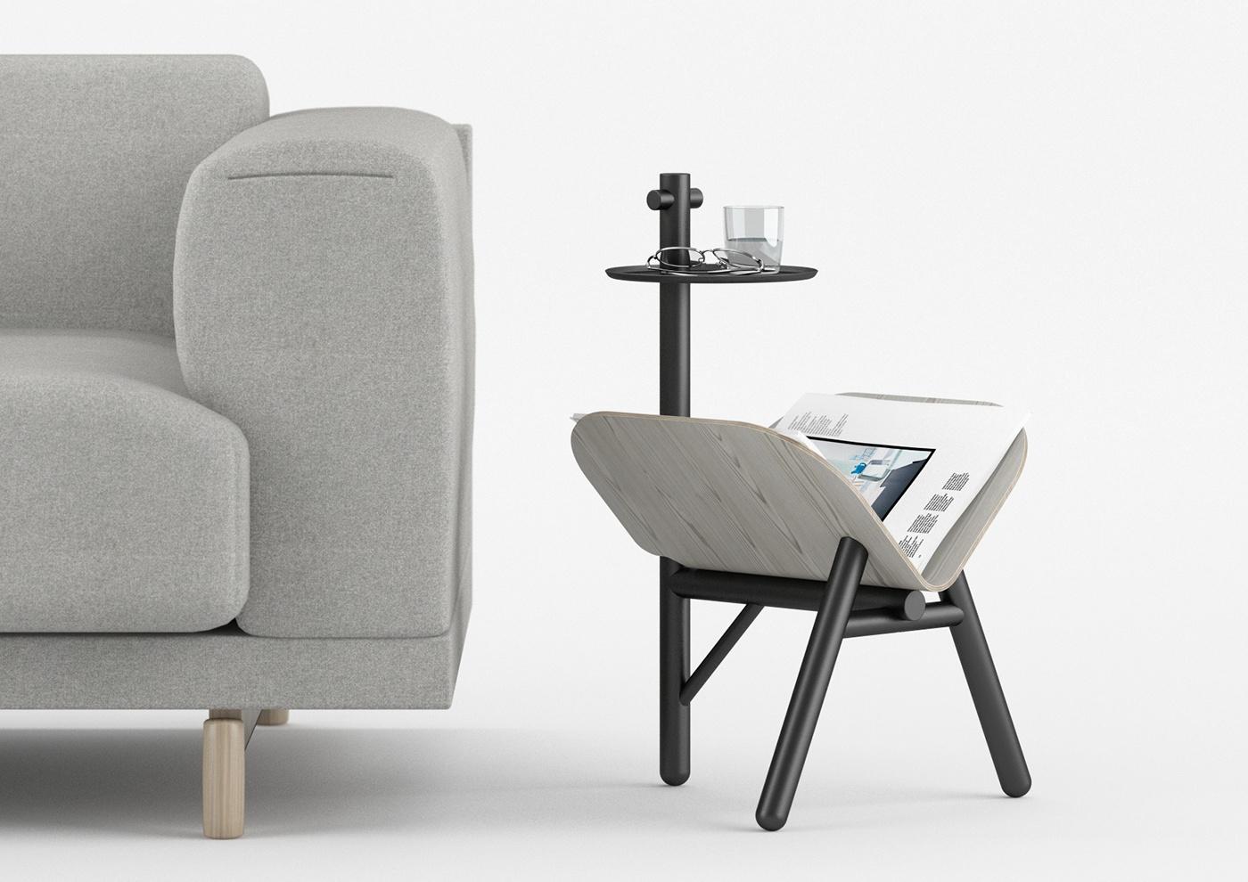 Кофейный столик для газет