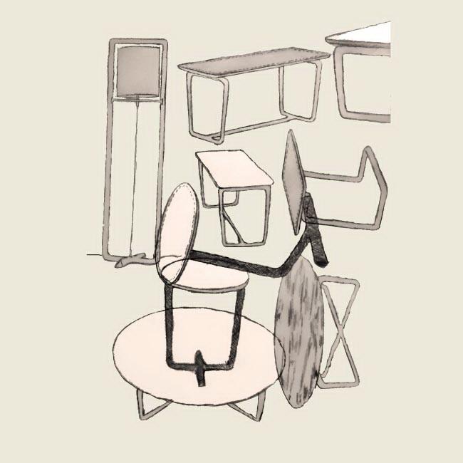 Журнальный столик венге из мрамора
